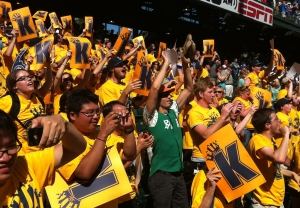 The celebration in King's Court at Safeco Field after Felix Hernandez's 1-0, perfect game victory on Wednesday.