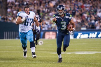 Is Russell Wilson pointing the way in terms of preparation, or is his tale an aspect of reverse-racing profiling? (photo by Seahawks.com)
