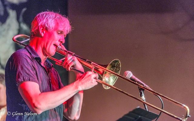 Chris Stover on trombone.