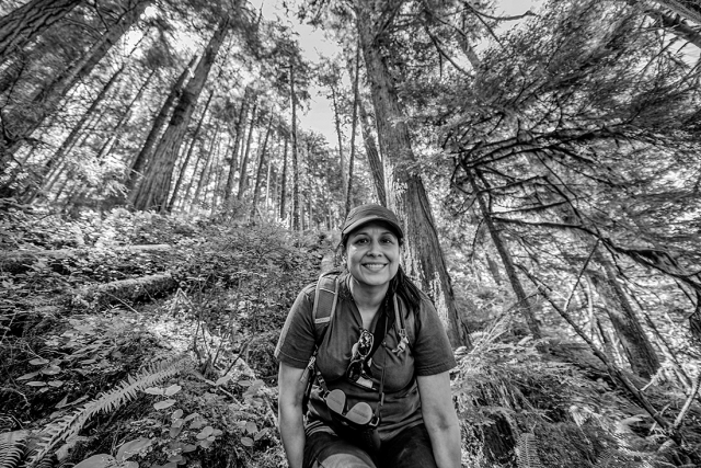 Nature Girl -- near Marymere Falls in Olympic National Park.