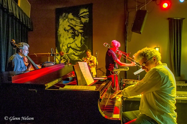 Here's the whole quintet - kinda. Jovino, Chris Stover, Jeff Bush and Chuck Deardorf.