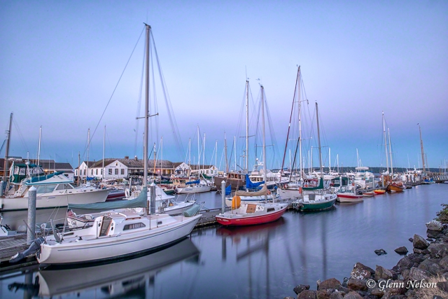 The marina in Port Townsend, Wash., at sunset.