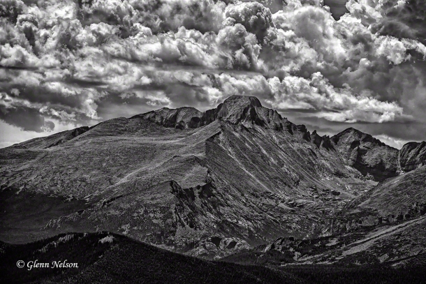 Iconic Long's Peak from Trail Ridge Road.