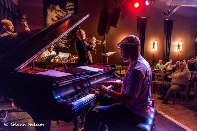 Orrin Evans on piano.
