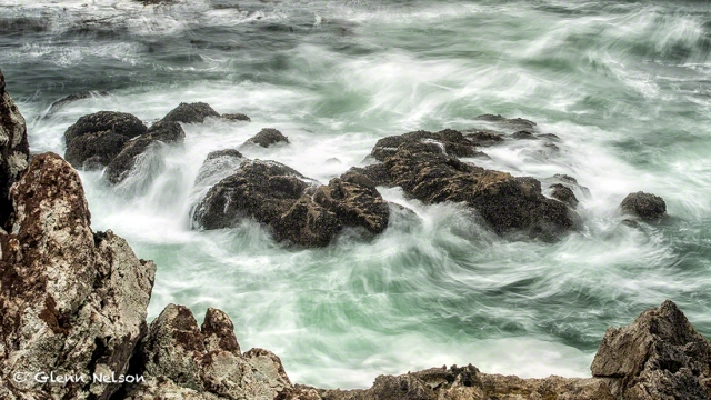 The roiling surf off the Wild Pacific Trail in Ucluelet, B.C.