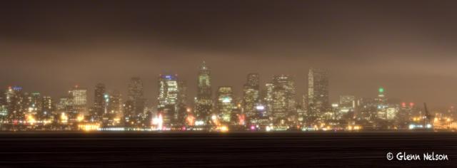 The 12s break through the fog (from Alki).