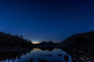 Jordan Pond under the stars, serenaded by loons and coyotes.