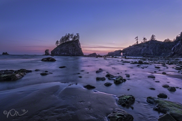 Twilight at Second Beach.